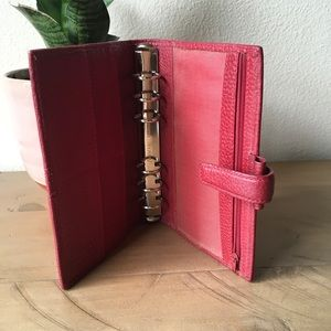 Filofax RED Personal Leather USED